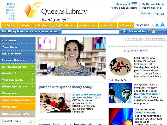QueensLibrary.org - Continue to Complete Review...