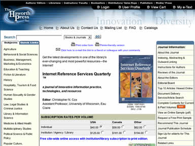 Internet Reference Services Quarterly